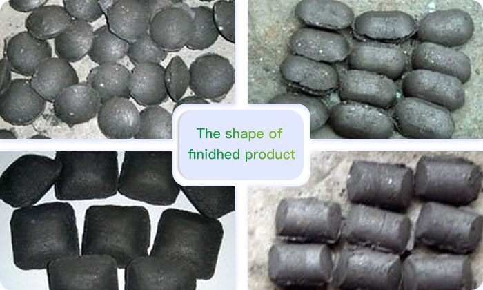 Different shapes of finished products